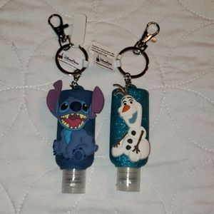 OLAF AND STITCH KEYCHAIN HOLDERS